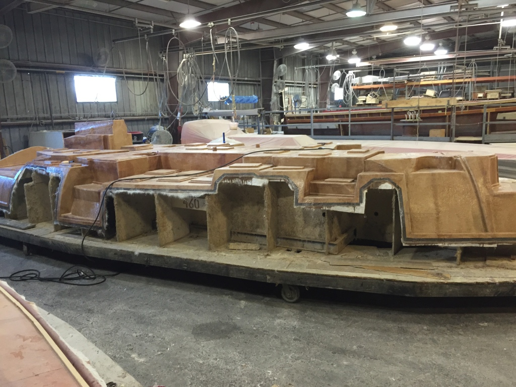 The Internal Grid Unit, IGU, will be fitted and fiberglassed into the hull mold