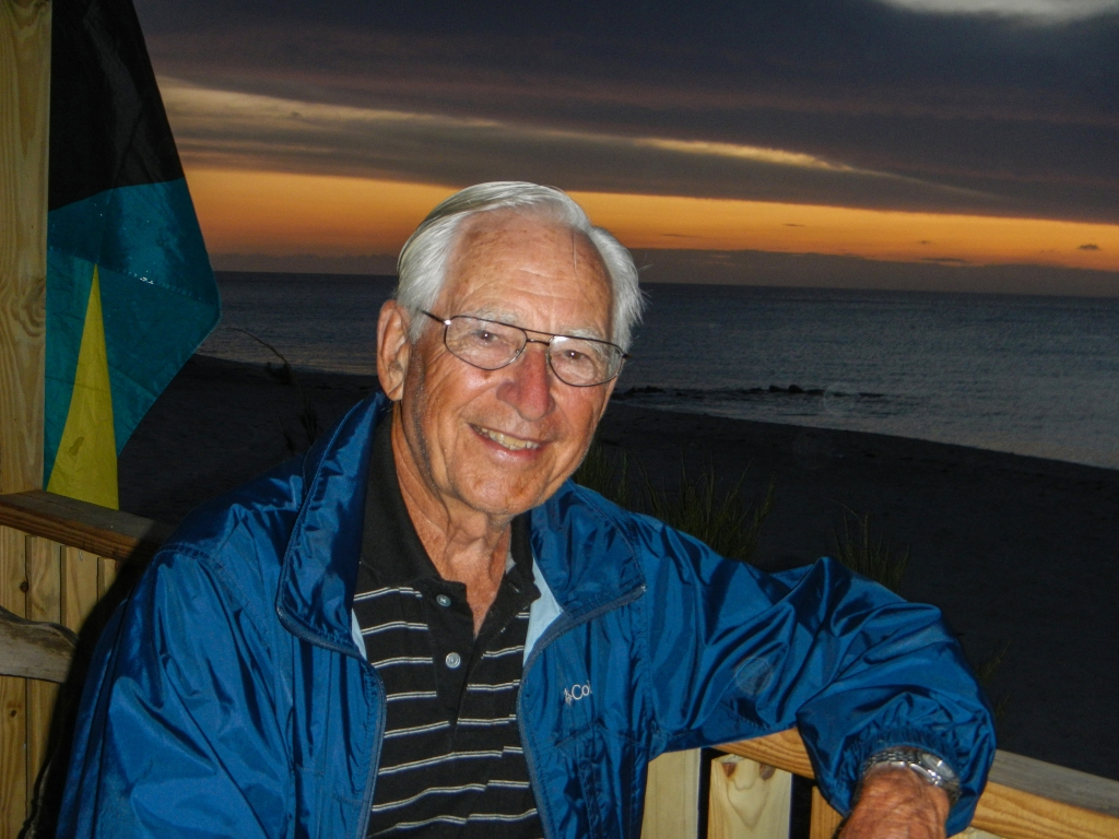 My father at age 85 on the island of Bimini. He is still ready to set sail for distant horizons.