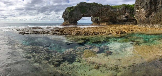 The Talava Arches of Niue are accessible only by hiking inland through the center of a cave