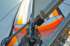 The spinnaker is both powerful and beautiful at once, and it has a life of its own