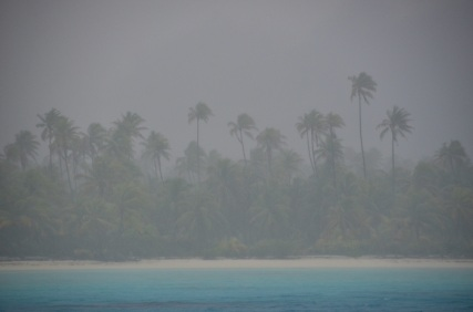 A severe squall rips through the island of Maupihaa