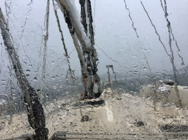 Caribbean squalls bring frequent periods of zero visibility