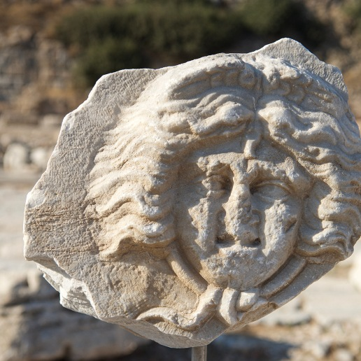 Carved Face at Knidos